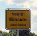 Ortseingangsschild der Kreisstadt Wildeshausen
