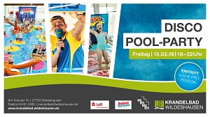 Disco-Pool-Party am 15.02.2019