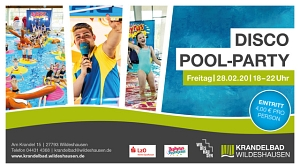 Disco Pool-Party am 28.02.2020 im Krandelbad